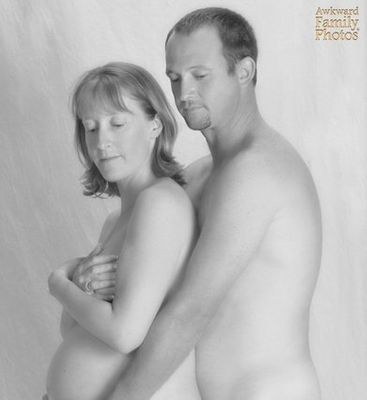 Family stacked naked